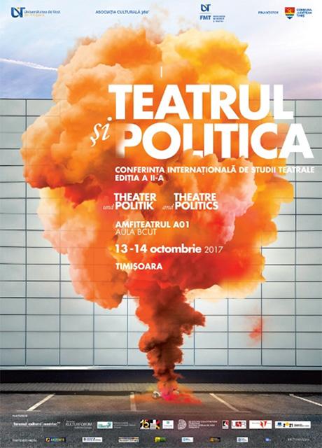 Plakat der Konferenz <i>Theater und Politik</i>