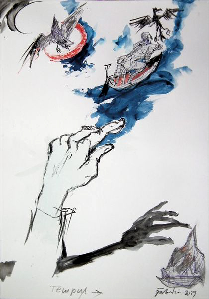 Gert Fabritius: »Tempus Fugit«, 2019, Zeichnung