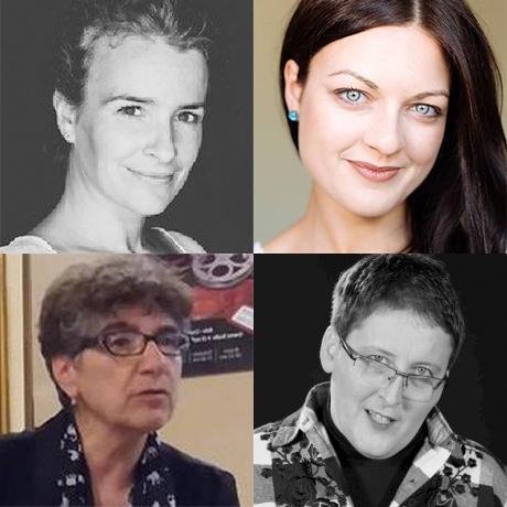 Die Referentinnen im Uhrzeigersinn von oben links: Ildikó Frank, Alexandra Murăruș, Drd. Simona Vintilă und Dr. Carmen Elisabeth Puchianu