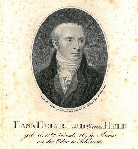 Porträt Hans von Held. Der Kupferstich zeugt von dem großen öffentlichen Interesse an Hans von Held, nach der Publikation seines <i>Schwarzen Buches</i>. Er entstand kurz bevor Held seine Festungshaft in Kolberg antrat.
